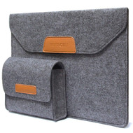 *FINAL SALE* Premium Felt Sleeve Case and Accessory Bag for iPad Pro 12.9 inch - Grey