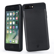 *SALE* Smart Power Bank Battery Charger Case 7000mAh for iPhone 8 Plus / 7 Plus / 6S Plus / 6 Plus - Carbon Fiber Black