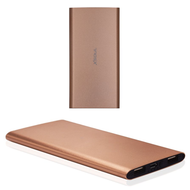 6600mAh Power Bank Battery Pack Charger with Dual USB Charging Ports - Rose Gold