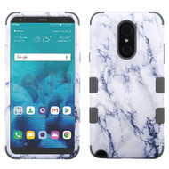 Military Grade Certified TUFF Image Hybrid Armor Case for LG Stylo 4 / Stylo 4 Plus - Marble White