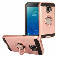 Sports Hybrid Armor Case with Smart Loop Ring Holder for Samsung Galaxy J2 - Rose Gold