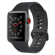 Classic Silicone Watch Band for Apple Watch 44mm / 42mm - Black