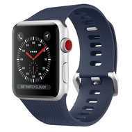 Classic Silicone Watch Band for Apple Watch 44mm / 42mm - Navy Blue
