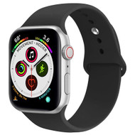 Sport Silicone Band Watch Strap for Apple Watch 44mm / 42mm - Black