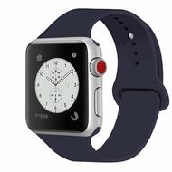 Sport Silicone Band Watch Strap for Apple Watch 44mm / 42mm - Navy Blue