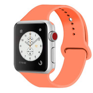 *Sale* Sport Silicone Band Watch Strap for Apple Watch 44mm / 42mm - Orange