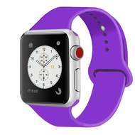 *Sale* Sport Silicone Band Watch Strap for Apple Watch 44mm / 42mm - Purple