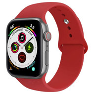 *Sale* Sport Silicone Band Watch Strap for Apple Watch 44mm / 42mm - Red