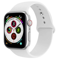 Sport Silicone Band Watch Strap for Apple Watch 44mm / 42mm - White