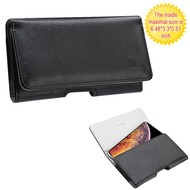 *SALE* Horizontal Leather Folio Pouch Case - Black