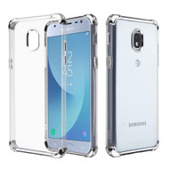 *Sale* Klarion Crystal Clear Tough Case for Samsung Galaxy J3 (2018) / J3 Achieve / J3 Star - Silver