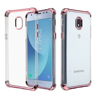 Klarion Crystal Clear Tough Case for Samsung Galaxy J3 (2018) / J3 Achieve / J3 Star - Rose Gold