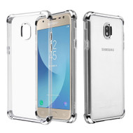 *Sale* Klarion Crystal Clear Tough Case for Samsung Galaxy J7 (2018) / J7 Refine / J7 Star / J7 V (2nd Gen) - Silver