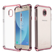 Klarion Crystal Clear Tough Case for Samsung Galaxy J7 (2018) / J7 Refine / J7 Star - Rose Gold