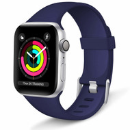 Aluminum Buckle Silicone Band Strap for Apple Watch 40mm / 38mm - Navy Blue