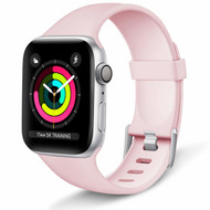 Aluminum Buckle Silicone Band Strap for Apple Watch 40mm / 38mm - Pink