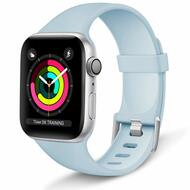 *Sale* Aluminum Buckle Silicone Band Strap for Apple Watch 44mm / 42mm - Baby Blue