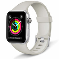 Aluminum Buckle Silicone Band Strap for Apple Watch 44mm / 42mm - Grey