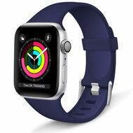 Aluminum Buckle Silicone Band Strap for Apple Watch 44mm / 42mm - Navy Blue