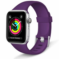 Aluminum Buckle Silicone Band Strap for Apple Watch 44mm / 42mm - Purple
