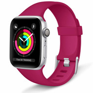 *Sale* Aluminum Buckle Silicone Band Strap for Apple Watch 44mm / 42mm - Red