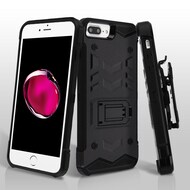 2-IN-1 Combo Falcon Star Hybrid Armor Case with Belt Clip Holster for iPhone 8 Plus / 7 Plus - Black