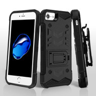 2-IN-1 Combo Falcon Star Hybrid Armor Case with Belt Clip Holster for iPhone 8 / 7 - Black