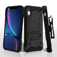 *Sale* 2-IN-1 Combo Falcon Star Hybrid Armor Case with Belt Clip Holster for iPhone XR - Black