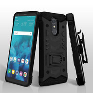2-IN-1 Combo Falcon Star Hybrid Armor Case with Belt Clip Holster for LG Stylo 4 / Stylo 4 Plus - Black