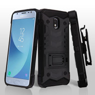 2-IN-1 Combo Falcon Star Hybrid Armor Case with Holster for Samsung Galaxy Samsung Galaxy J3 (2018) - Black