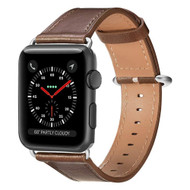 Genuine Leather Strap Watch Band for Apple Watch 44mm / 42mm - Brown