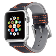 Hybrid Band Leather Watch Strap for Apple Watch 44mm / 42mm - Blue Grey