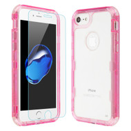 Military Grade Certified TUFF Lucid Plus Case with Tempered Glass for iPhone 8 / 7 / 6S / 6 - Pink