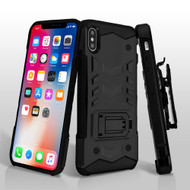 *Sale* 2-IN-1 Combo Falcon Star Hybrid Armor Case with Belt Clip Holster for iPhone XS / X - Black