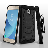 2-IN-1 Combo Falcon Star Hybrid Armor Case with Belt Clip Holster for Samsung Galaxy Samsung Galaxy J7 (2018) - Black
