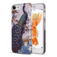 Artistry Collection Glitter TPU Case for iPhone 8 / 7 / 6S / 6 - Peacock