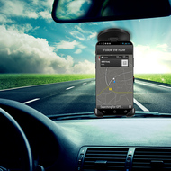 Adjustable Windshield and Dashboard Mount Car Holder for Smartphones - Black