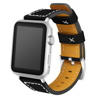 Genuine Leather Strap Watch Band for Apple Watch 40mm / 38mm - Black