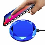 *SALE* Diamond Design 10W Fast Wireless Charger WPC Qi Charging Pad with Quick Charge 3.0 Power Adapter - Blue