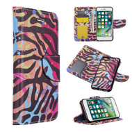 Trendy Series Leather Wallet with Detachable Magnetic Case for iPhone 8 / 7 / 6S / 6 - Wild Safari