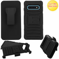 Advanced Armor Hybrid Kickstand Case with Holster for Samsung Galaxy S10 -  Black 201
