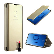 Clear View Smart Standing Case with Auto Sleep / Wake for Samsung Galaxy S10 - Gold
