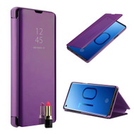 Clear View Smart Standing Case with Auto Sleep / Wake for Samsung Galaxy S10 - Purple