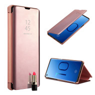 Clear View Smart Standing Case with Auto Sleep / Wake for Samsung Galaxy S10 - Rose Gold