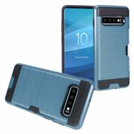 ID Card Slot Hybrid Case for Samsung Galaxy S10 - Navy Blue