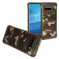 Tough Anti-Shock Hybrid Case for Samsung Galaxy S10 - Camouflage