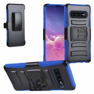 Advanced Armor Hybrid Kickstand Case with Holster for Samsung Galaxy S10 - Blue