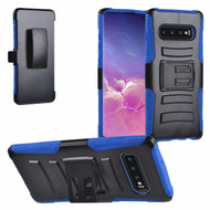 Advanced Armor Hybrid Kickstand Case with Holster for Samsung Galaxy S10 Plus - Blue