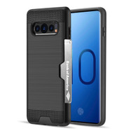 ID Card Slot Hybrid Case for Samsung Galaxy S10 Plus - Black