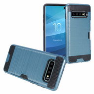 ID Card Slot Hybrid Case for Samsung Galaxy S10 Plus - Navy Blue